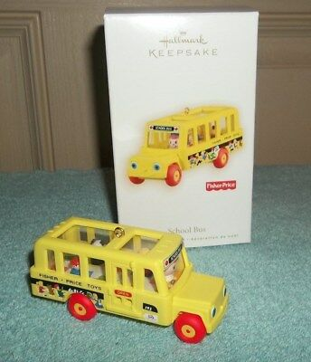 New Hallmark Fisher-Price 2009 School Bus Nib