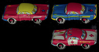 Vintage Lot of Three (3) Mini Tin Litho Penny Cars - Japan