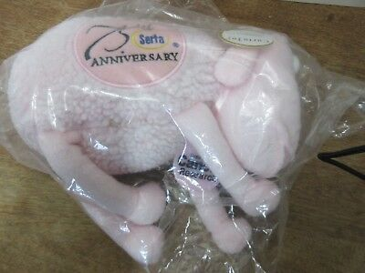 Serta 75th Anniversary Plush Toy Pink Breast Cancer Research edition
