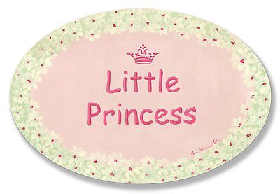 The Kids Room by Stupell Little Princess with White Daisy Border Oval Wall