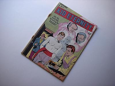 Kid Eternity #11  Golden Age Superhero Off-White Pgs  Quality Comics 1948