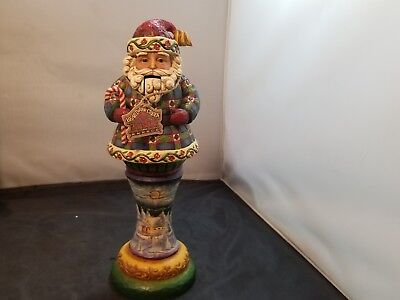 Heartwood Creek Santa Figurine, Season Sweets Nutcracker, NIB