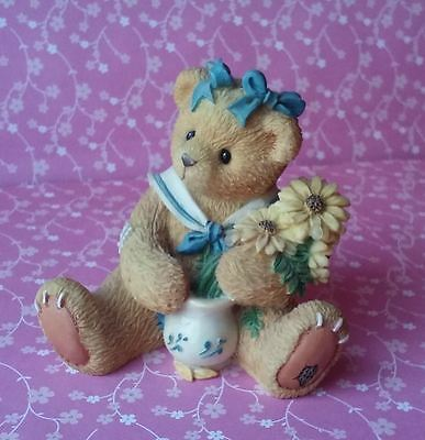 Cherished Teddies Brown-Eyed Susan Love Stems From Our Friendship Figurine 1996