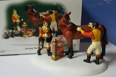 Dept 56 Dickens Village TENDING THE ROYAL HORSES!  Perfect!