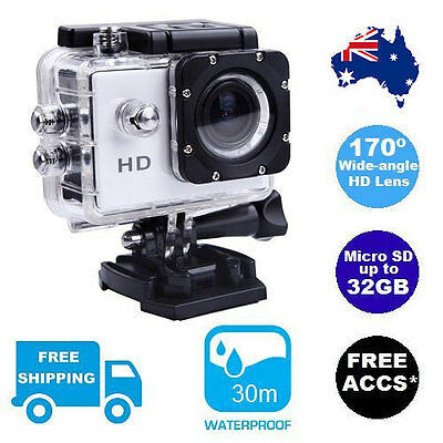 1080p Sports Action Cam Video Waterproof Camera HD Gopro Go Pro Mount Compatible