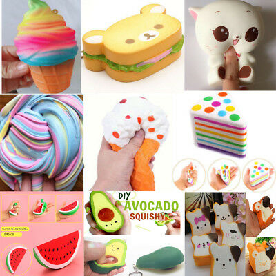 Lot Jumbo Slow Rising Squishies Charm Squishy Stress Reliever Squeeze Funny Toys