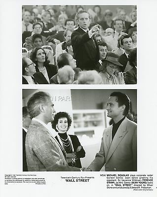 Michael Douglas Terence Stamp Oliver Stone Wall Street 1987 Photo Original #7