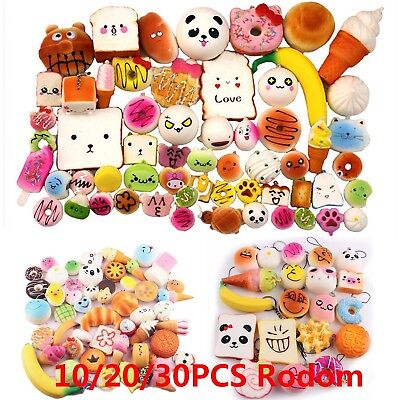 10/20/30X Jumbo Medium Mini Squishy Bread/Cake/Buns Phone Straps Slow Rising Lot