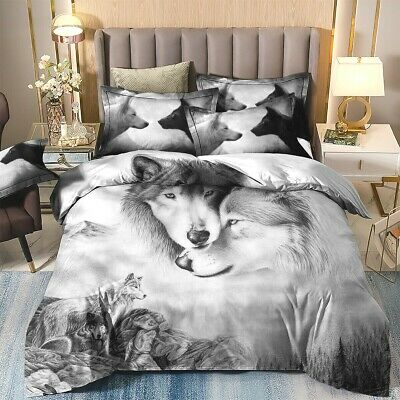 Wolf Animal Doona/Duvet/Quilt Cover Set Queen/King/Double/Single Size Pillowcase