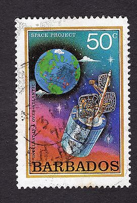 1979 Barbados 50c Intelsat over Atlantic SG644 FINE USED R31262