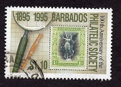 1996 Barbados $1.10 Cent Philatelic Society SG1068 GOOD USED R32759