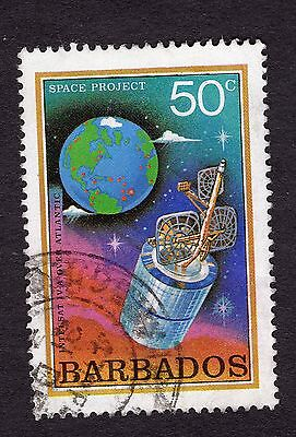 1979 Barbados 50c Intelsat over Atlantic SG644 FINE USED R31263