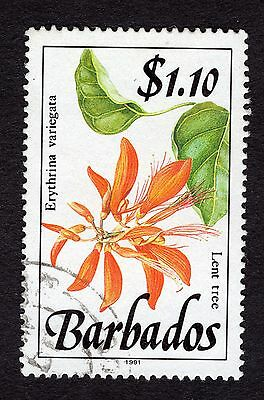 1991 Barbados $1.10 Lent Tree SG902 FINE USED R32079