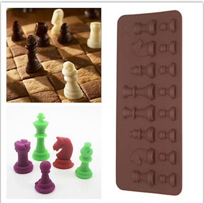 3D Chess Ice Chocolate Sugar Cake Silicone Mini Cube Tray Chess Mold Candy