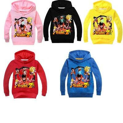 Kids Boy Girl Dragon Ball Z Long Sleeve Sweatshirt Hoodie Tops Children Clothing