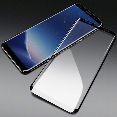 Full Display Schutz Glas für Samsung Galaxy S8 Panzer Glas Folie 3D Curved 9H