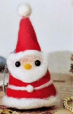 Needle Felting Kit Christmas Santa JAPANESE Wool Fibre + Needle + eyes included