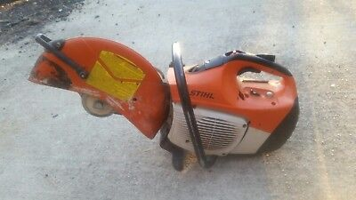 """STIHL TS420  14"""" CONCRETE CUT-OFF SAW With Water Hook Up"""