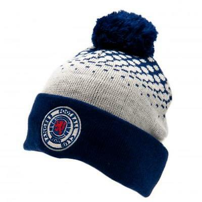 official glasgow rangers bobble knitted wool hat ibrox ulster loyalist scotland