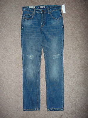 OLD NAVY SUPER SKINNY ADJUSTABLE WAIST JEANS SIZE 12 (kids) 27X27 1/2 NEW TAGS
