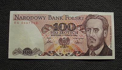 Bank Note Of Poland (People's Republic) 100 Zloty L. Warynski (Mint Condition)