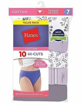 6 Pack Youthform Womens Hi-Waisted Cotton Brief Panties