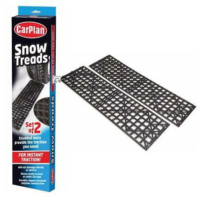 CarPlan Snow Treads /  Mats Grippers - Winter Traction for Snow Ice - Set of 2