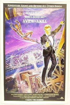 Vintage 1985 Adventure Above & Beyond All other Bonds A View to a Kill One Sheet