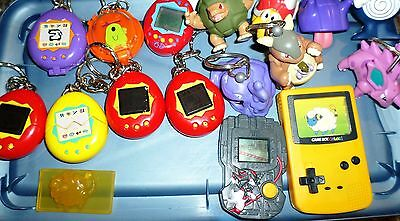Lot Burger King McDonalds Nintendo Toys 1997-2000 Bandai Tamagotchi Spinner More