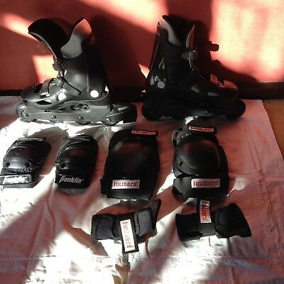 Bauer Roller Blades Size 6 and protective gear