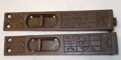 Antique Lock Set Pocket Doors? Top Lock? Ornate Eastlake Craftsman Victorian (2)