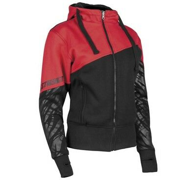 Speed & Strength Cat Out'a Hell Womens Zip Up Armored Hoody Red/Black
