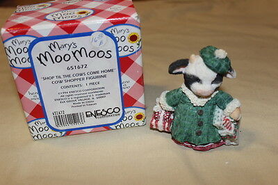 1994 mary's moo moos SHOP TIL THE COWS COME HOME #651672 retired