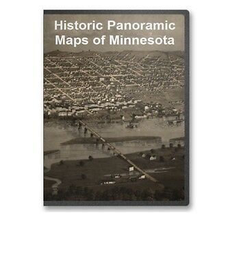 Minnesota MN - 40 Vintage Panoramic City Maps on CD Minneapolis Etc. - B167