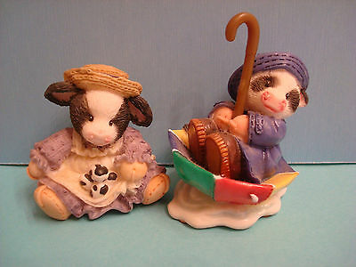 MARY'S MOO MOOS, 2 mini figs Eggstra-Special & You Keep Moo Afloat, some chips