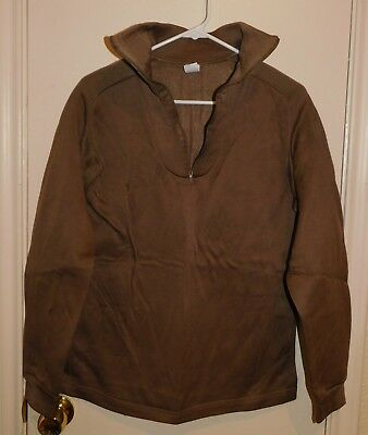 USGI Army ECWCS Polypro Polypropylene Brown Cold Weather Top Shirt Medium NWOT