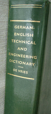 De Vries German-English Technical and Engineering Dictionary