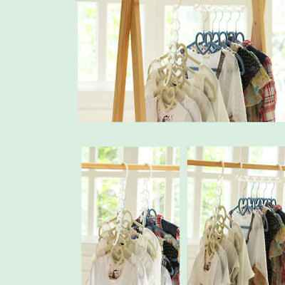 Rotated Clothes Hooks Multifunction 5 Holes Space Saving Magic Hanger Hooks 8pcs