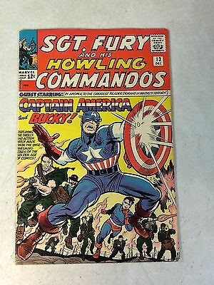Sgt Fury #13 Key Issue - Captain America - Bucky, Howling Commandos, 1964, Kirby