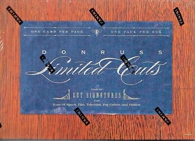 2011 Donruss Limited Cuts Sealed Hobby Pack Of 1 Cut Signature Card