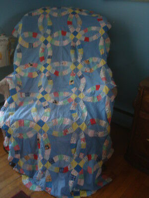 Vintage 1920's Wedding Ring Quilt Top Cutter
