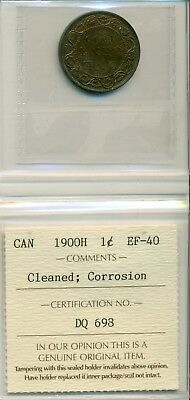ICCS CAN 1900H 1 cent EF-40 Cleaned; Corrosion DQ 698