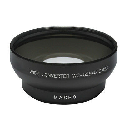 52mm 0.45x Wide Angle Conversion Lens With Macro For Canon Sigma Tamron Contax