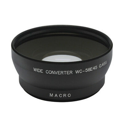 58mm 0.45x Wide Angle Conversion Len With Macro For Canon Sigma Tamron Contax