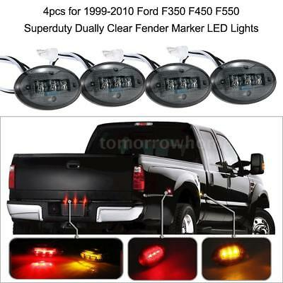 For 1999-2010 Ford F550 F450 4pcs Superduty Dually Clear Marker LED Lights A0L5