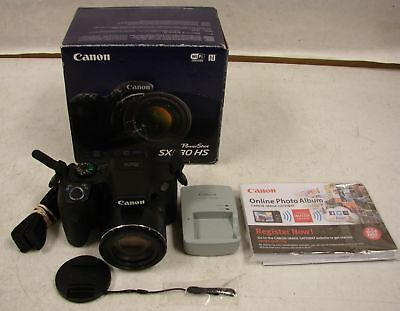 Canon PowerShot SX530 HS WiFi 16MP Camera Black FREE SHIPPING