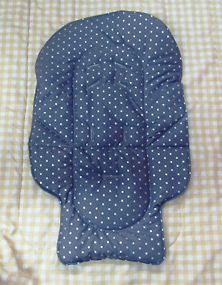 Graco duodiner or Graco blossom childs custom highchair pad, silver dots on gray