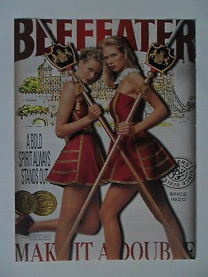 2001 Print Ad Beefeater Dry Gin Martini ~ Sexy Girls Royal Guard