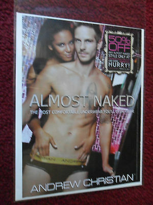 2012 Print Ad Andrew Christian Men's Briefs Underwear ~ Almost Naked