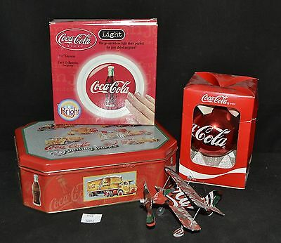 ThriftCHI ~ Coca-Cola Can Plane, Bulb Ornament, Touch Light +